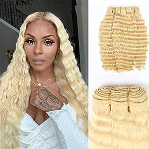 40Inch Brazilian 613 Deep Wave 100% Unprocessed Virgin Brazilian Hair 4 Bundles 40inch Deep Wave Human Hair Extensions…
