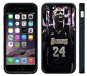 For SamSung Galaxy S6 Case Cover Black Hard Silicone CaKobe Bryant 24 Lakers
