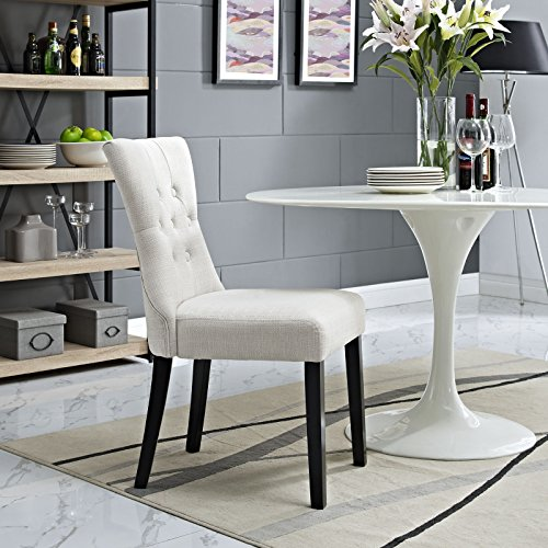 Modway Silhouette Tufted Upholstered Fabric Parsons Dining Side Chair in Beige by Modway (Image #5)