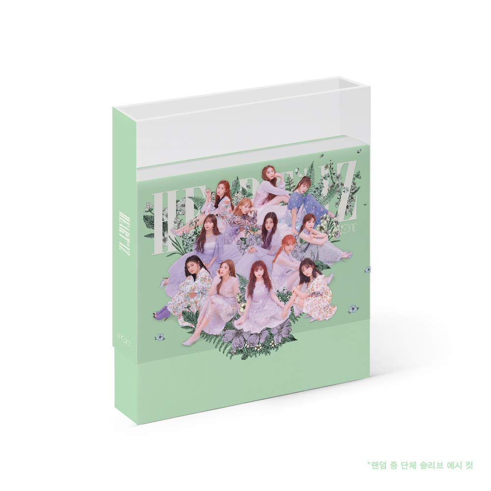 K-POP IZONE - 2nd Mini Album [HEARTIZ] (Violeta version) Music CD + Photobook + Clear Sleeve + Mini Photobook + Photocards + Pop-up Card + Folded Poster + Extra Photocards Set + Tracking Number KPOP S