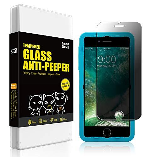 for iPhone 7 Plus/8 Plus SmartDevil Privacy Screen Protector Anti-peep Tempered Glass Private Film[Anti-Fingerprint] [Easy Installation] [Bubble Free][Anti-peep][5.5 inch]