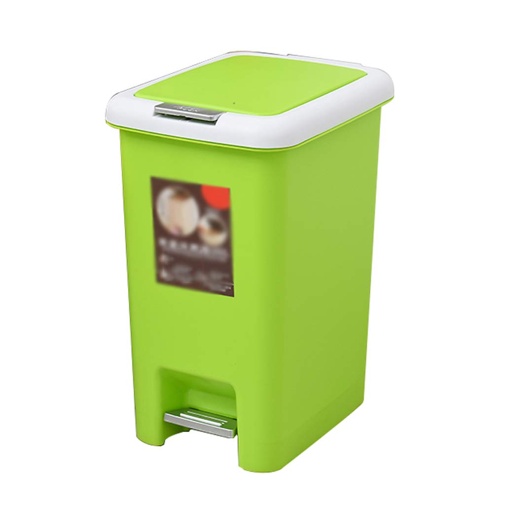 LinLiQiaoljt Household trash can, tapping on the cover, effortless, multi-size (Size : 8L)