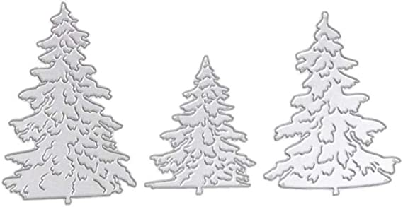 3pcs Christmas Tree Metal Cutting Dies For DIY Scrapbooking Album Paper Cards ZP