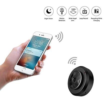B&H-ERX Spy Hidden Camera 1080P Portable Mini Remotely WiFi Security Camera Nanny Cam with