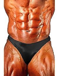 Andreas Cahling Bodybuilding Physique Original Posing Swim Trunks Suit Briefs (Black, L (32
