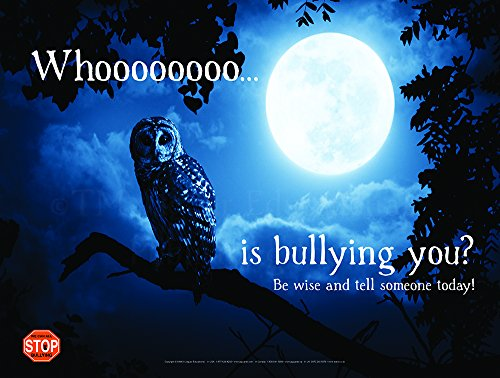 Whoooo Extra LARGE Laminated Poster Perfect For October With Bullying Prevention and (Anti Halloween Poster)
