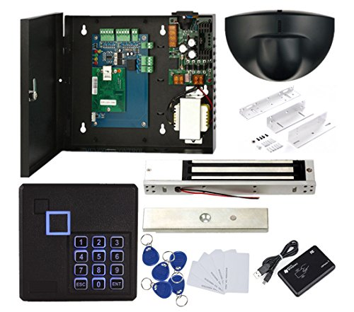 Single Control the Systems Kit Exit Motion Sensor 600lbs Electronmagnetic Lock ZL Bracket Power Box Keypad Reader RFID Keyfobs/Cards by MENGQI-CONTROL