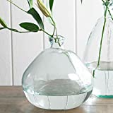 Clear Askew Recycled Glass Balloon Vase, 13''