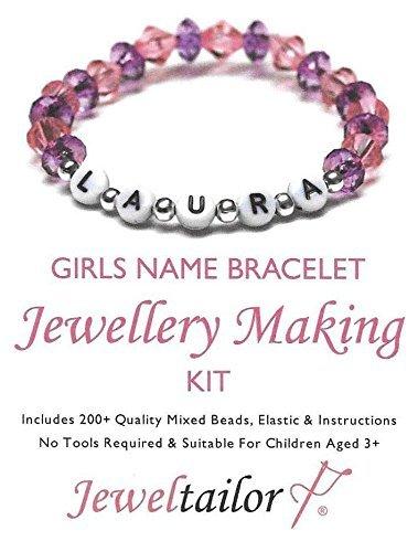 Amazon Jeweltailor Girls Name Bracelet Jewellery Making Kit