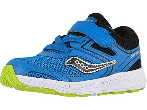 Saucony Kids Baby Boy's Cohesion 12 Jr (Toddler) Blue/Black 7.5 M US Toddler (Saucony Boy Toddler Shoes)