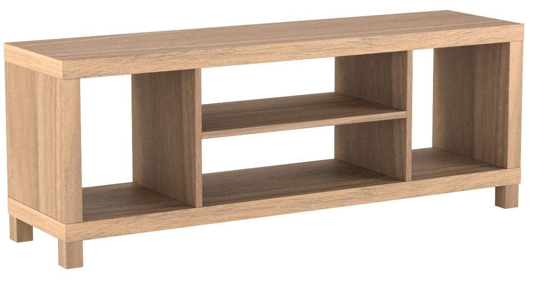Cross Mill TV Stand (Rustic Oak, 47.24 x 15.75 x 19.09 Inches)