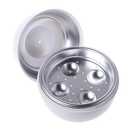Tikaee - Cocedor de Huevos para microondas, 4 Huevos, Forma de ...