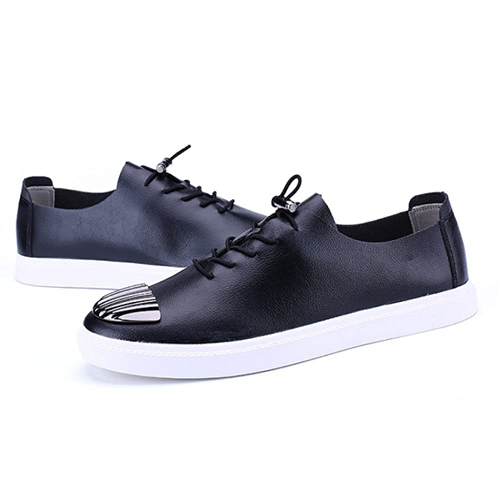 ZPFDY Männer Koreanische Vier Jahreszeiten Casual Lederschuhe Jugend Mode Lace Lederschuhe Casual schwarz 91f85c