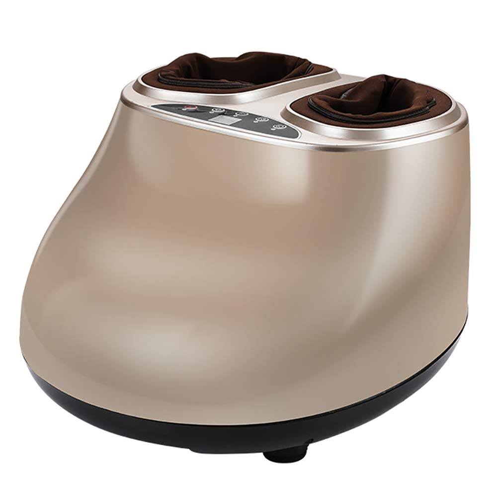 足マッサージャー指圧足マッサージャーマシン、足の筋肉リリーフ痛みスパギフトのための取り外し可能な布カバー付き電気ディープニーディングマッサージ,Gold B07SW5S2M3 Gold