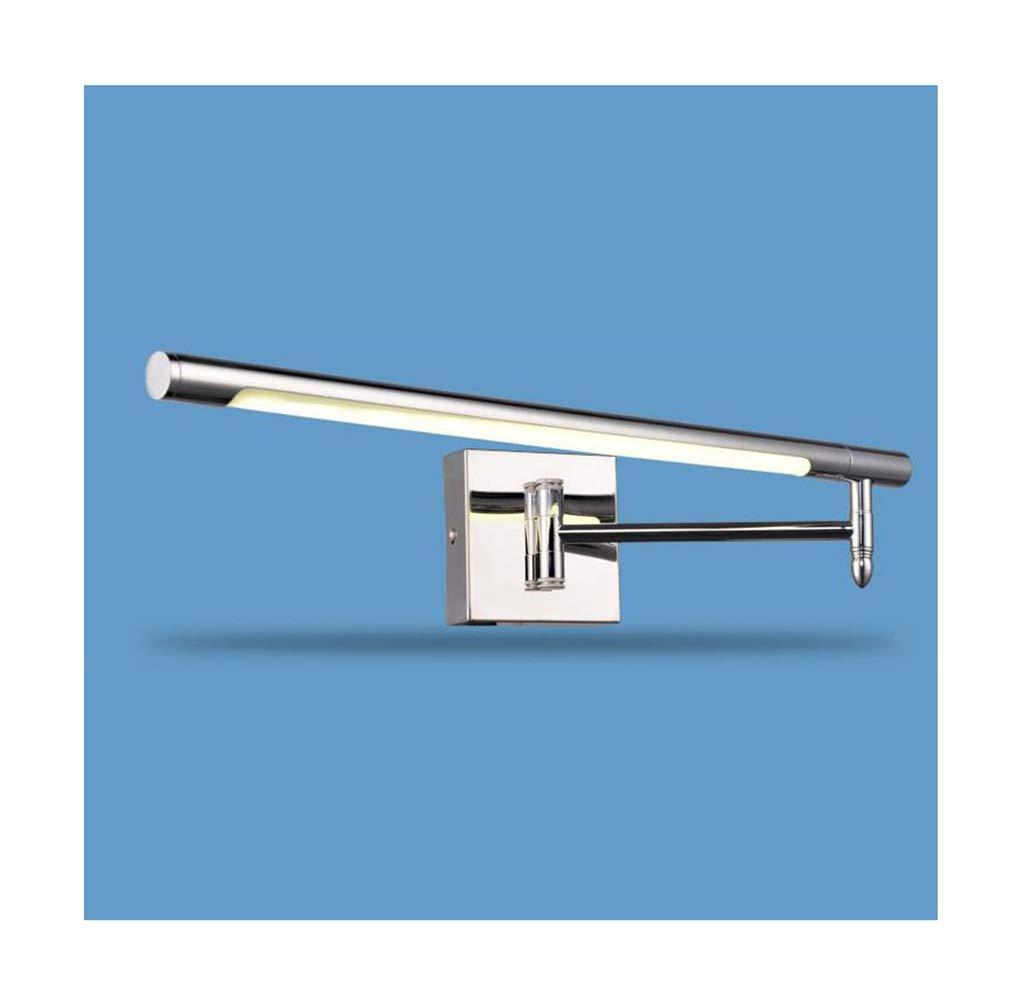 badezimmerlampe Spiegel Frontleuchte LED Edelstahl Stretch-Anpassung Bad Wandleuchte-51cm Schminklicht
