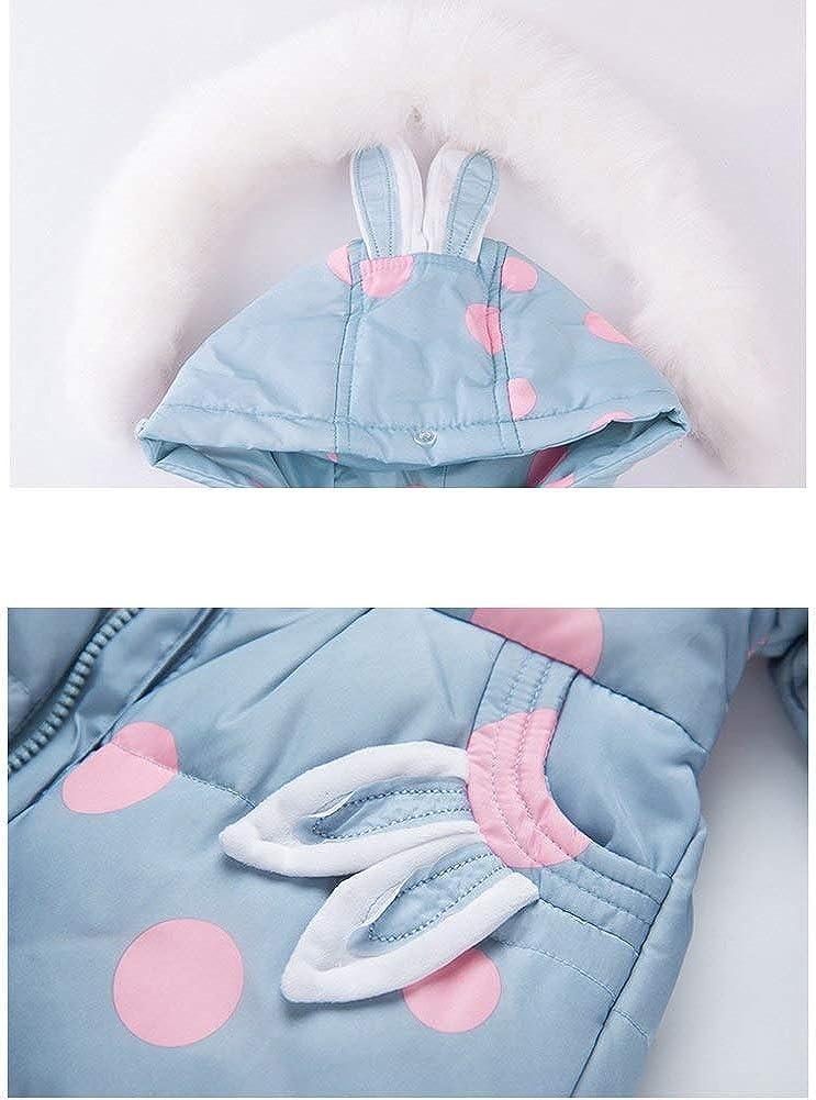 Pantaloni Invernali Pantaloni in Piuma per Bambini Tuta da Sci per Bambini SANMIO Piumino per Bambina Snowsuit con Abbigliamento con Cappuccio Set Giacca Invernale Ispessita