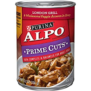 Purina ALPO Gravy Wet Dog Food, Prime Cuts London Grill - (12) 13.2 oz. Cans