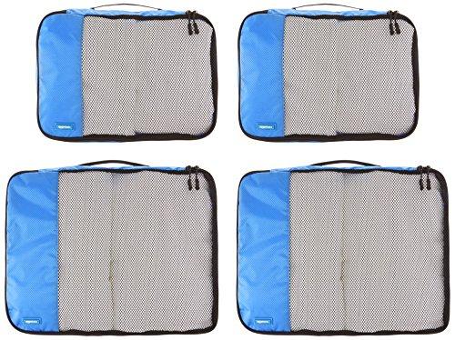 51YJcVti9aL Amazon Basics Kleine Kleidertaschen, 4 Stück, Blau