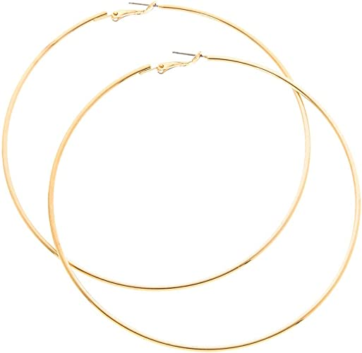 Claire/'s Girl/'s Silver 100MM Hoop Earrings