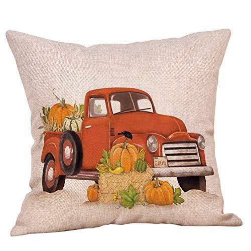 HongXander Happy Halloween Decorative Pillowcases Cotton Linen Pumpkin