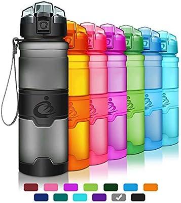 Grsta Botella de Agua Deportiva -400ml/500ml/700ml/1000ml- Sin BPA & a Prueba de Fugas, Reutilizable de plastico tritan, Agua Botellas Ideal con ...