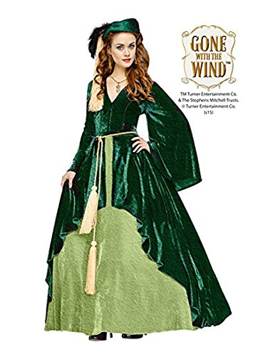 Fun World Women's Gone with the Wind-Scarlet O'hara Costume, Green, Medium -