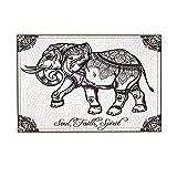 NYMB Indian Style Elephant Painting Stands for Soul Faith Spirit Bath Rugs, Non-Slip Doormat Floor Entryways Outdoor Indoor Front Door Mat, Kids Bath Mat, 15.7x23.6in, Bathroom Accessories (Multi9)