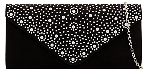 Girly Girly Beaded Clutch Bag Black HandBags HandBags RwUCdqw