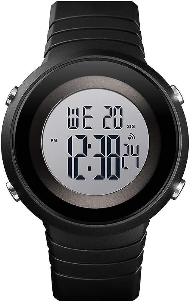 Zwbfu 1507 Hombres Relojes Deportivos Reloj de Pulsera Impermeable para Hombres Reloj Digital Reloj Masculino Reloj Militar Reloj para Hombres