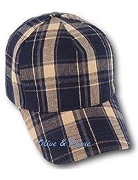 Olive & Pique Plaid Flannel Checkered Baseball Cap