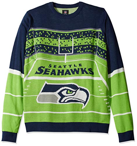 NFL Seattle Seahawks STADIUM LIGHT UP Ugly Sweater, X-Large