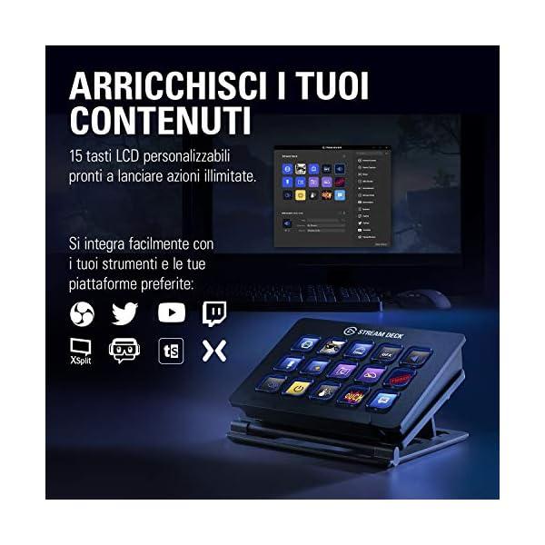 Elgato Stream Deck Individuale Controllo Creazione di Contenuti in Diretta con 15 Tasti LCD Personalizzabili, per Windows 10 e macOS 10.13 o Successivi 2 spesavip