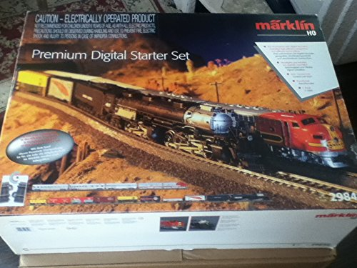 MARKLIN HO Digital Premium Starter 2 Trains Set 29849 - STEAM Big BOY U.Pacific+Diesel EMD F7 S.FE DIG. DECODERS LOCOMOTIVES W/EXT.FUNTIONS and Sound+Long Wide Oval C Tracks W/SWITCHES+DIG.Controls.