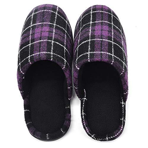 Indoor Plaid Women's Foam Slide RockDove Slipper Memory Purple qW6T4xn1