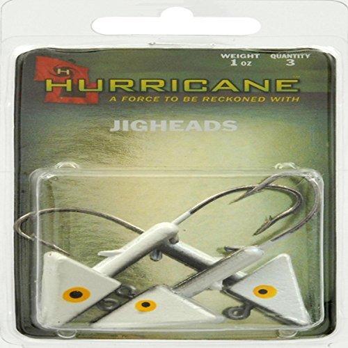 Hurricane Saltwater Jig Head, 1-Ounce, Shad
