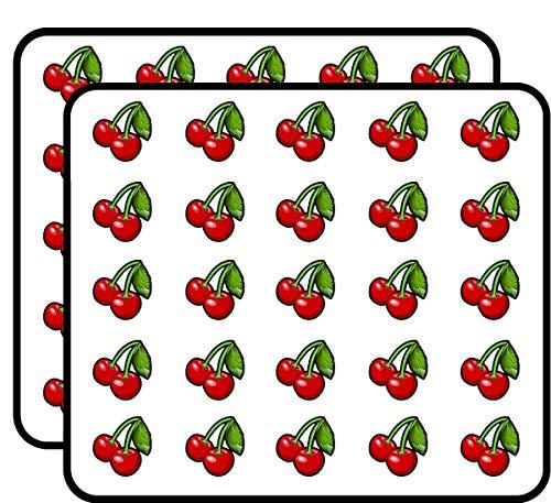 Cherries w Leaf Shaped (Cherry Shape Sexy) Sticker for Scrapbooking, Calendars, Arts, Kids DIY Crafts, Album, Bullet -