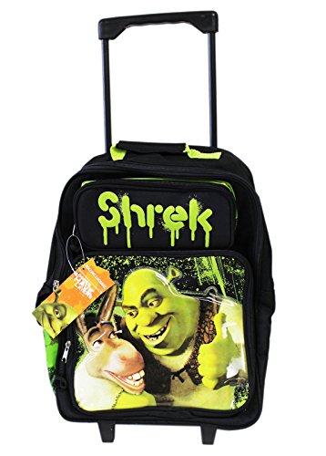 Donkey & Shrek Best pals Rolling Backpack School Luggage Bag