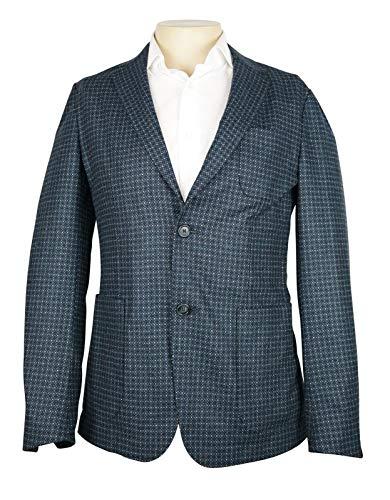 Z Zegna Navy Blue Birdseye Pattern Jacket 100% Wool New 38 R ()