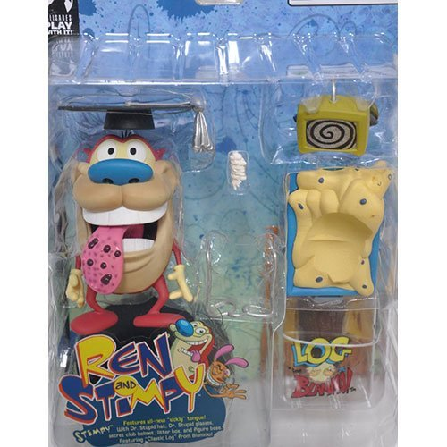 (Ren and Stimpy Series 1 Sickly Tongue Stimpy Chase Figure Rare with Bonus LOG Figure By BLAMMO!)