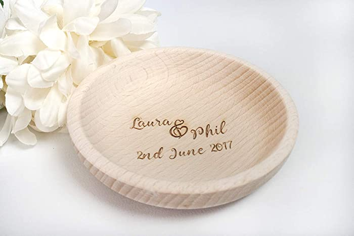 87598e69ec Wedding Ring Dish, Personalised ring holder, rustic ring bowl, wooden  engraved ring dish, FREE UK SHIPPING, engagement, anniversary and  valentine's gift