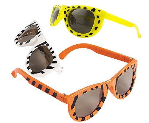Safari Themed Costumes Jungle (48 Safari Zoo Animal Print Sunglasses - Birthday Party Favor)