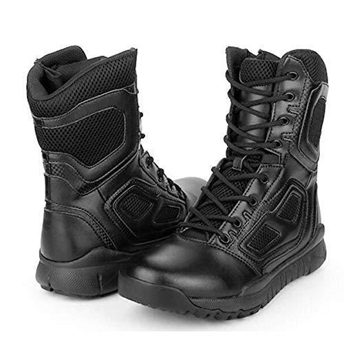 per Uomini Stivali ASJUNQ Stivali Black Tattici Militari Tattici Comp Jungle Gli Toe FHWnnga