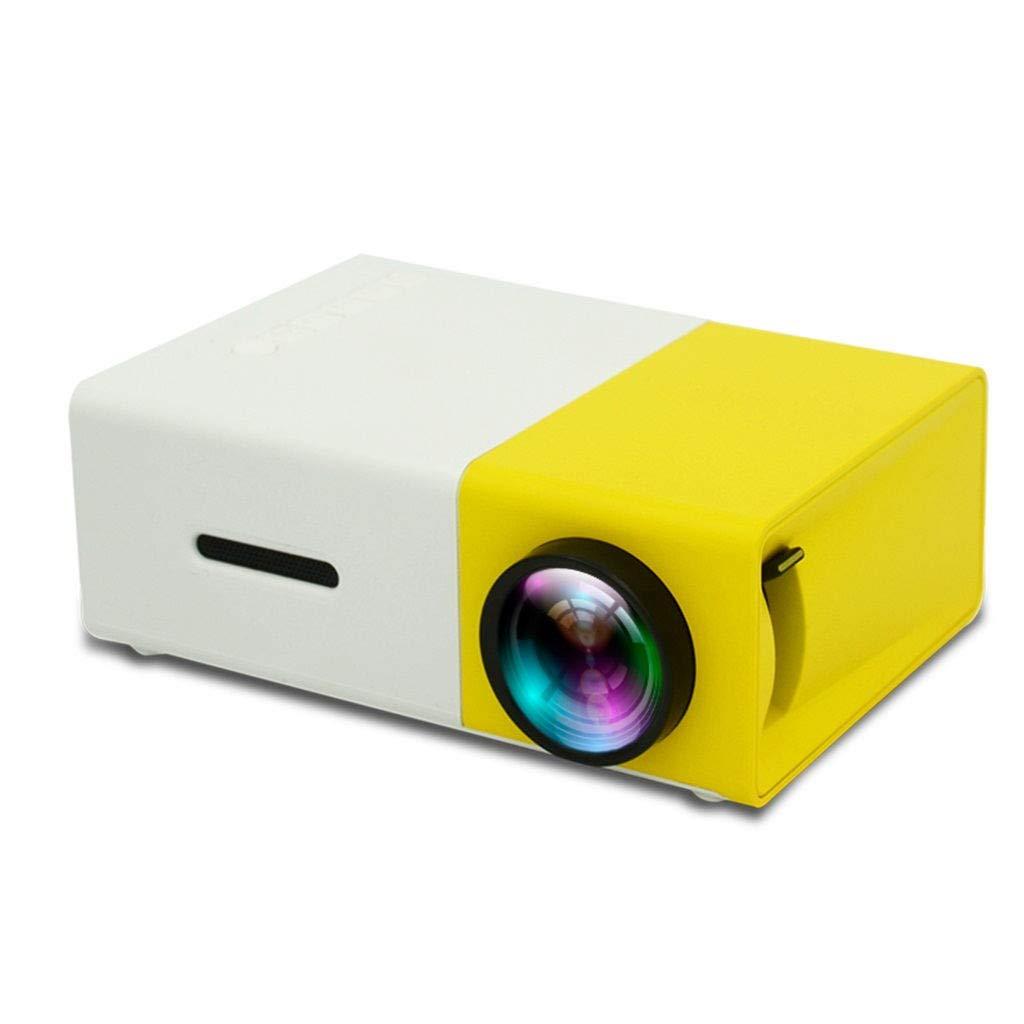 WONdere YG300 1080P Home Theater Cinema USB HDMI AV SD Mini Portable HD LED Projector (Yellow)