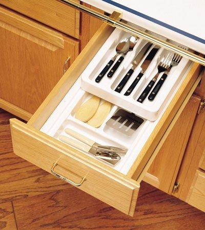 Rev-A-Shelf Rolling Cutlery Tray Insert half tray 11-3/4'' W x 4-1/8''H