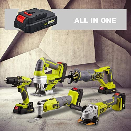 DEWINNER Cordless Jigsaw Saw Tool with 2.0Ah Li-ion 20V MAX Battery, Charger,5*Blades - Includes 3 Stage Pendulum Action, Tool-Less Blade Change & Dust Extractor Port