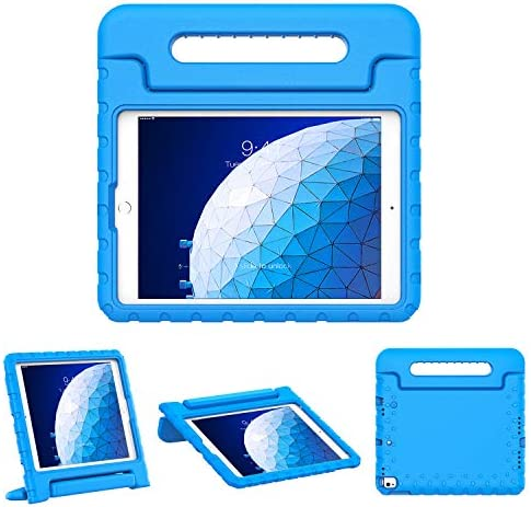 [해외]TiMOVO Case for New iPad 7th Generation 10.2 2019 Shockproof Convertible Handle EVA Kids Friendly Protective Stand Cover Case Fit iPad 10.2-inchiPad Air 3 10.5 2019iPad Pro 10.5 2017 - Blue / TiMOVO Case for New iPad 7th Generation...