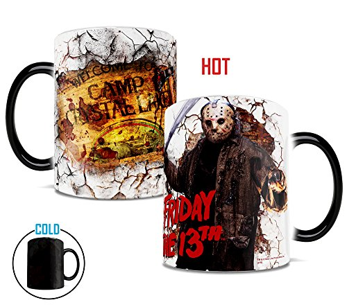 "Friday the 13th Jason Voorhees ""Welcome to Camp Crystal Lake"" Morphing Mug"