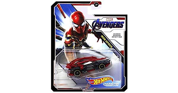 Amazon.com: Hot Wheels Iron Spider Avengers Character Car ...