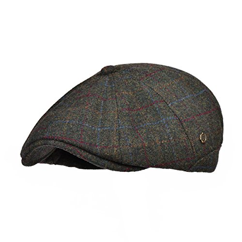 VOBOOM Winter 8 Panel Wool Tweed newsboy Gatsby IVY Cap Golf Cabbie Driving Hat (188-Green)