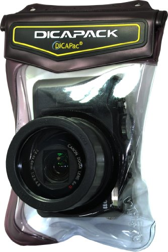 DiCAPac WP570 Underwater Waterproof Case for Large Cameras (like Canon G5/G7/G9 and similar (Powershot Waterproof Case)